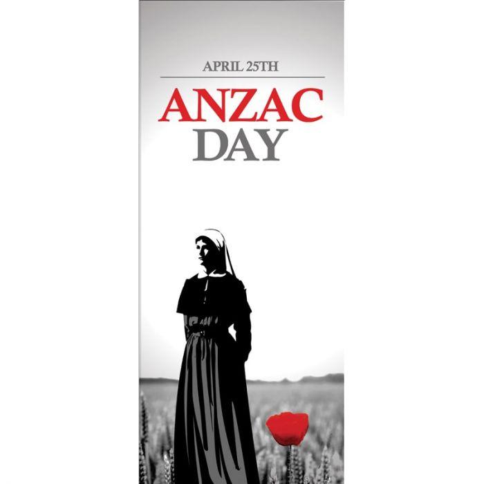 ANZAC Day Flag - Nurse with Red Poppy (43)
