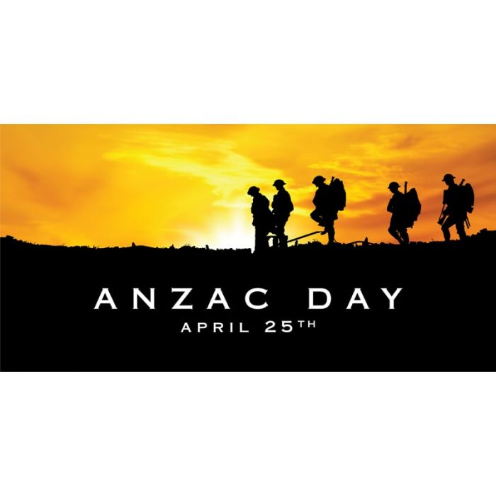 ANZAC Day Flag  -  Soldier and Red Poppy (62)