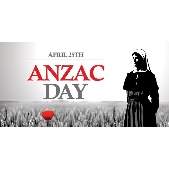 ANZAC Day Flag  -  Nurse and Red Poppy (64)