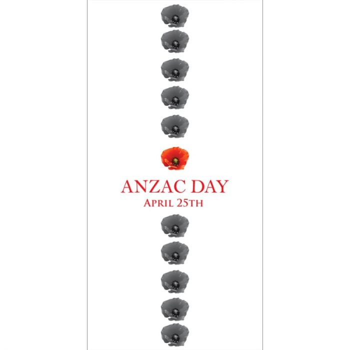ANZAC Day Flag - Poppies in a Row (66)