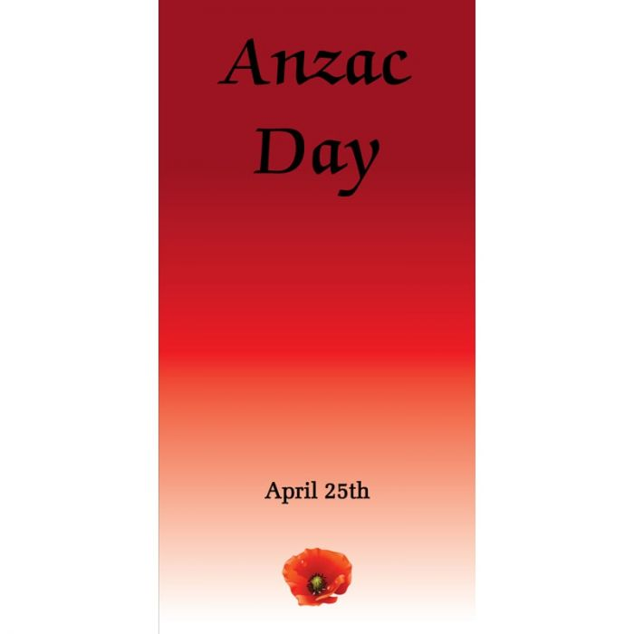 ANZAC Day Flag - Red Gradient (67)