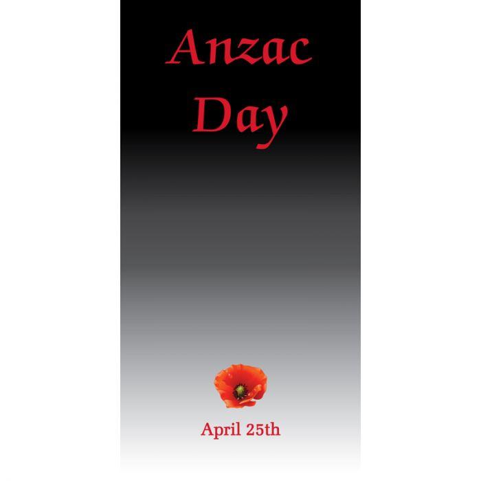ANZAC Day Flag - Black Gradient (68)