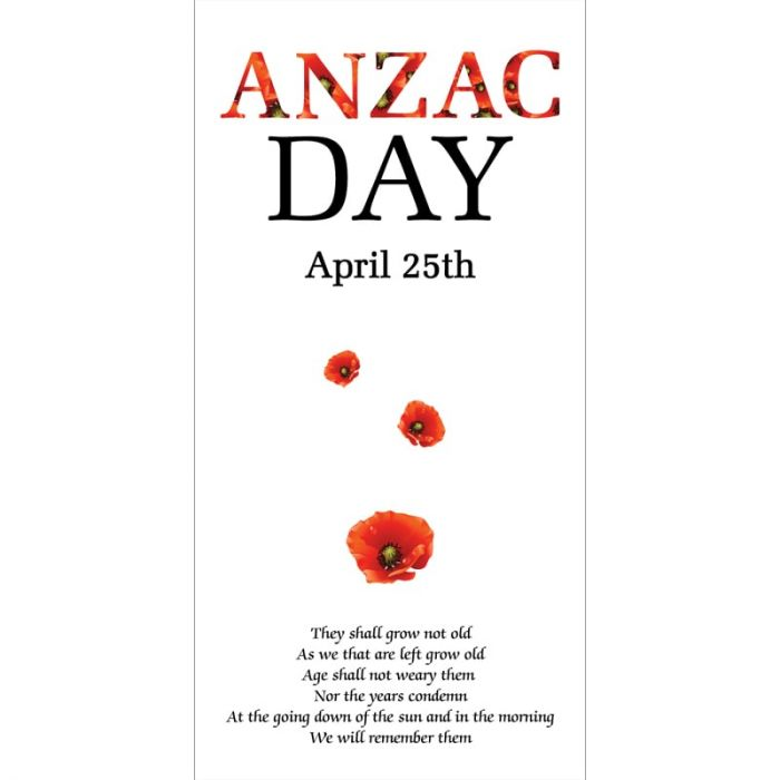 ANZAC Day Flag  - Ode of Remembrance (69)