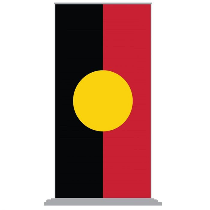 Aboriginal Flag Pull Up Banner with Deluxe Base (2000mm x 1000mm)