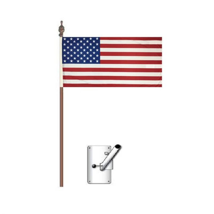 American Flag Bracket and Pole Kit 900mm x 450mm (Knitted)