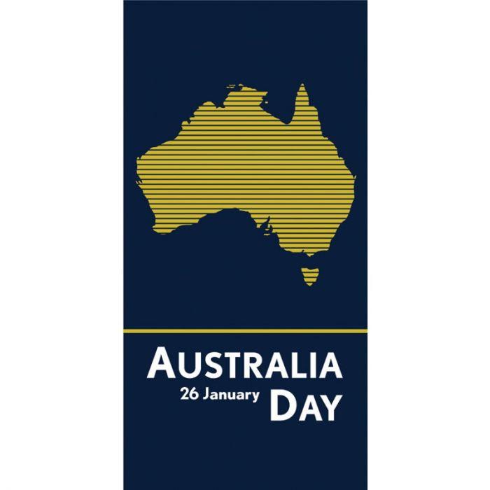 Australia Day Flag Blue Yellow Stripes (34)