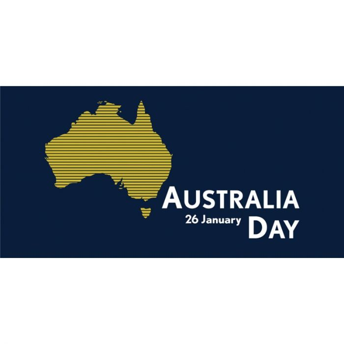 Australia Day Flag Blue Stripes Horizontal (42)