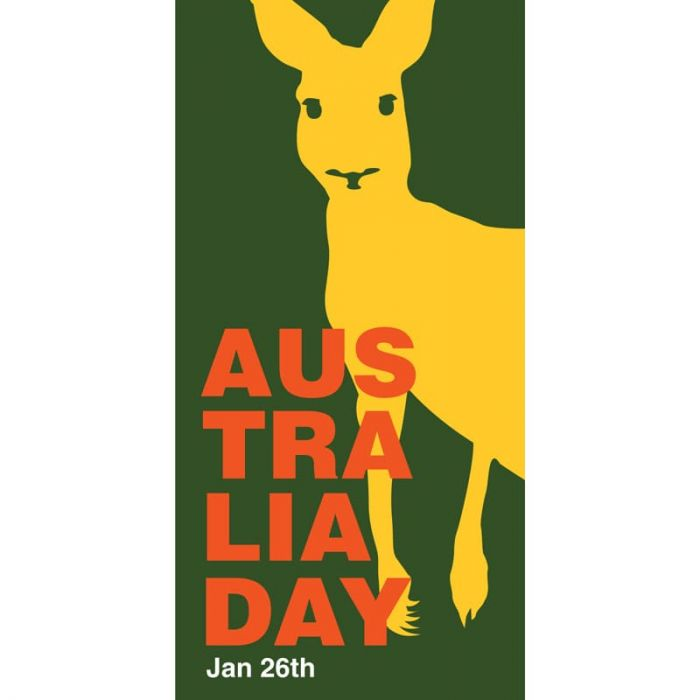 Australia Day Flag Yellow Roo (64)