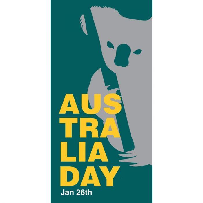 Australia Day Flag Grey Koala (65)