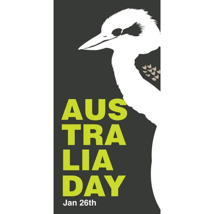 Australia Day Flag White Kookaburra (67)