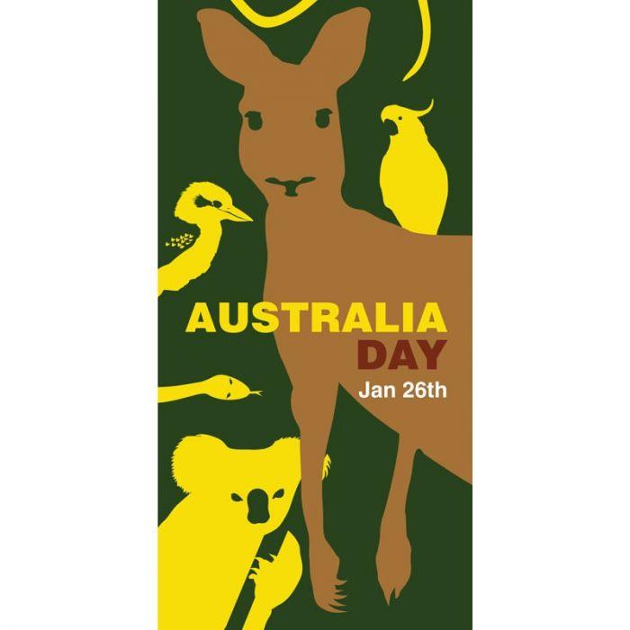 Australia Day Flag Kangaroo Green and Yellow (68)
