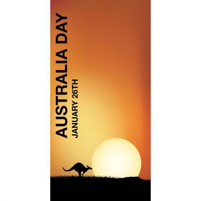 Australia Day Flag Orange Sun (16)