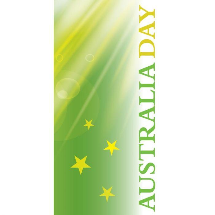 Australia Day Flag Light Green Stars (40)