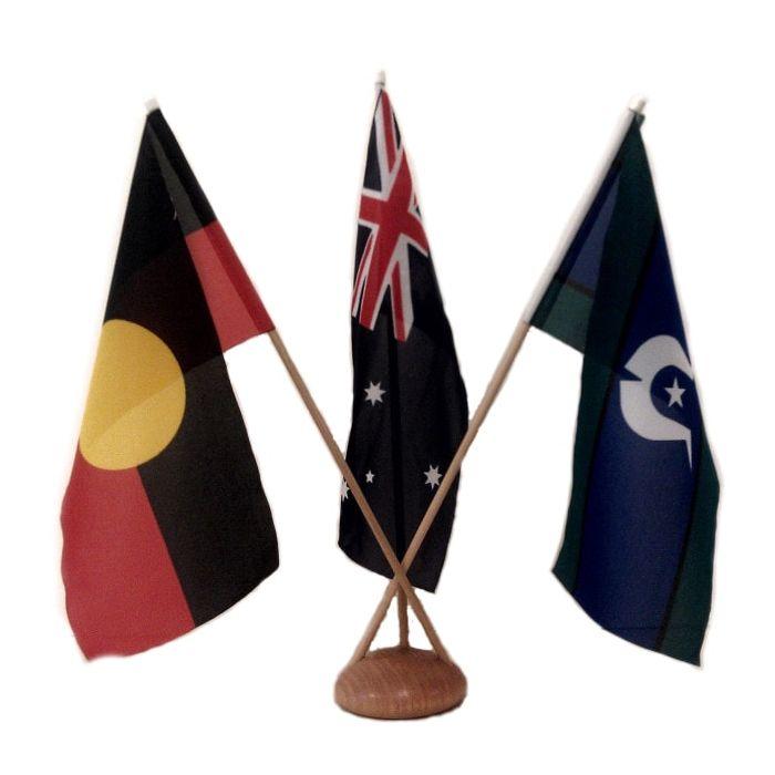 Australian, Aboriginal and TSI Desk Flag Set