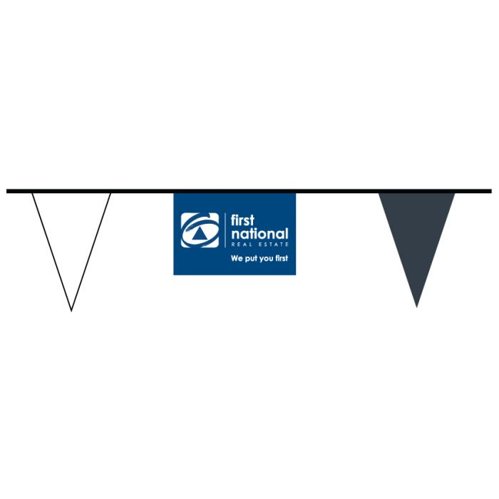First National Bunting Reverse Logo