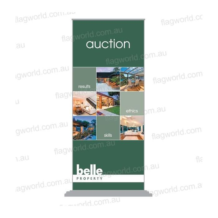 Belle Property Auction pop up banners