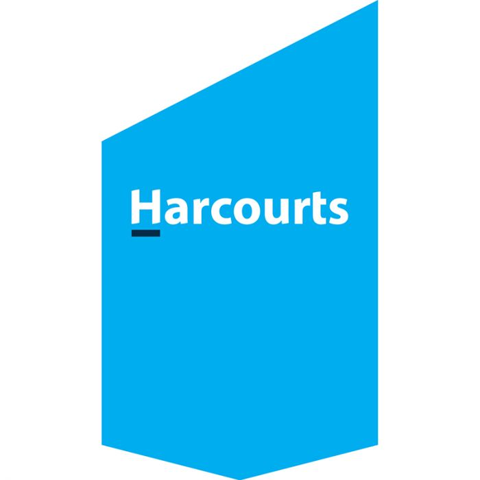 Harcourts Corporate Shop Front Banner Cyan