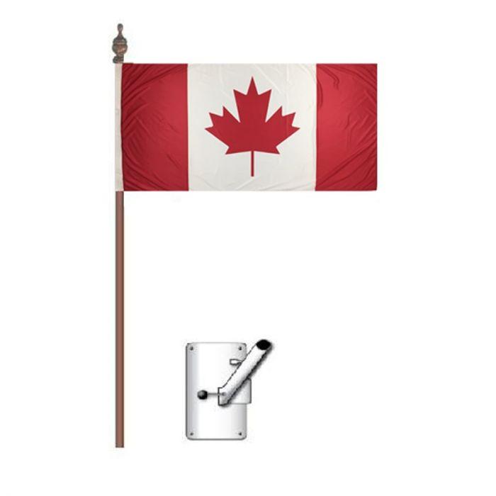 Canada Flag Bracket and Pole Kit