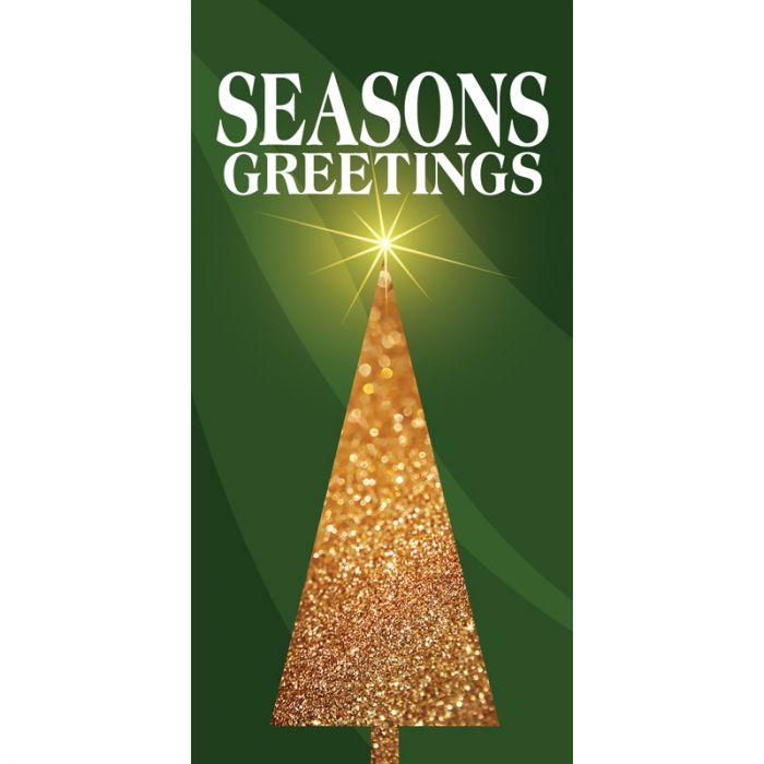 Christmas Flag Green Seasons Greetings Tree (100)