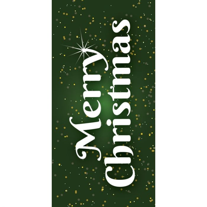 Christmas Flag Merry Christmas Green (107)