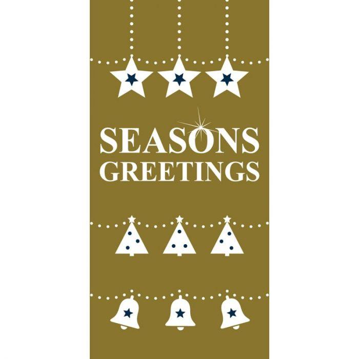 Seasons Greetings Gold Flag (121)