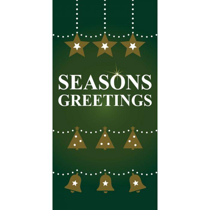 Christmas Flag Green Seasons Greetings  (97)
