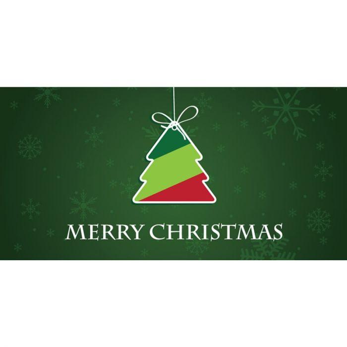 Merry Christmas Green with Tag Horizontal (20)