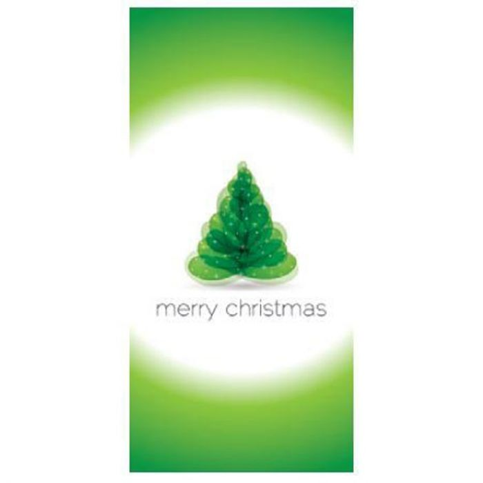 Merry Christmas Green and White Flag 900mm x 1800mm (Various Finishes)
