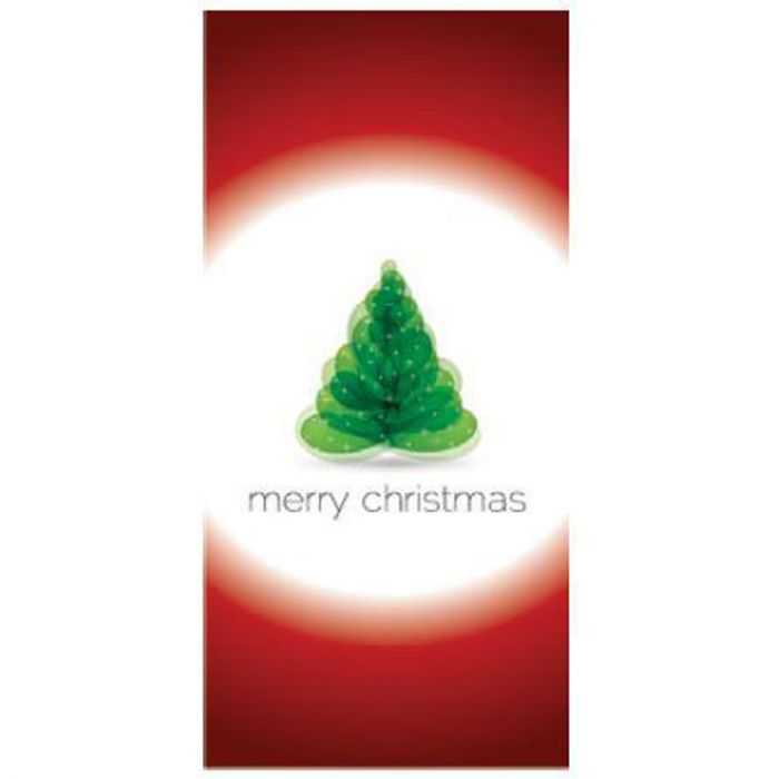 Merry Christmas Flag Red and White Flag 900mm x 1800mm (Various Finishes)