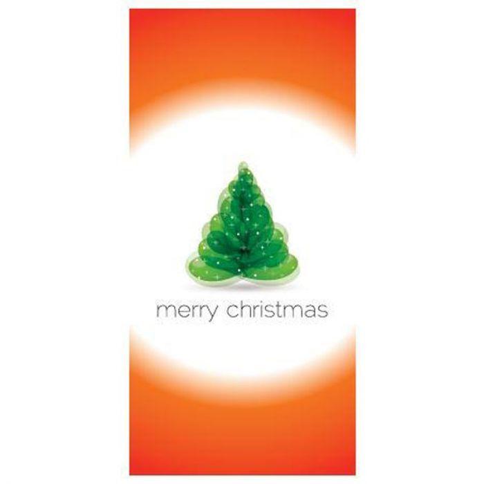Merry Christmas Flag Orange and White Flag 900mm x 1800mm (Various Finishes)