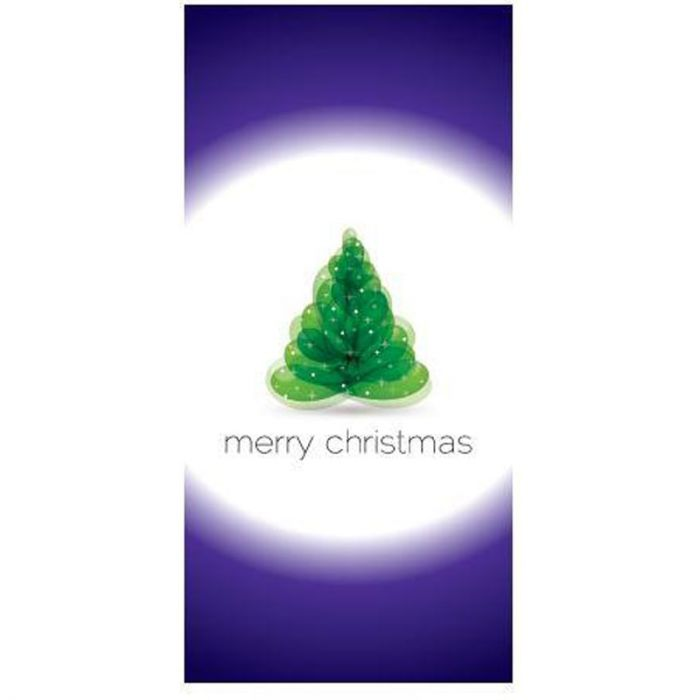 Merry Christmas Flag Purple and White Flag 900mm x 1800mm (Various Finishes)