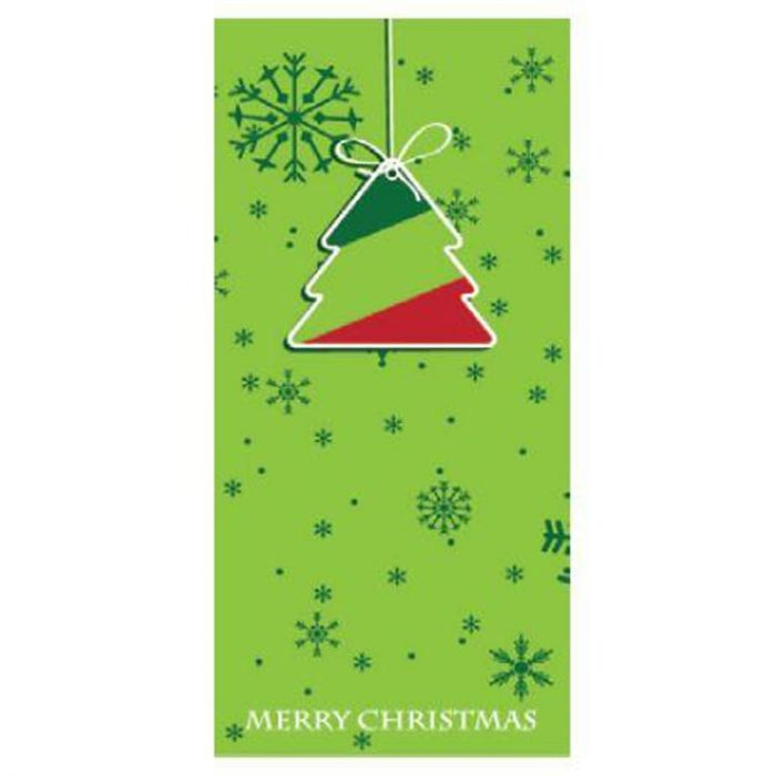 Seasons Greetings Light Green Flag with Tree 900mm x 1800mm (Various Finishes)