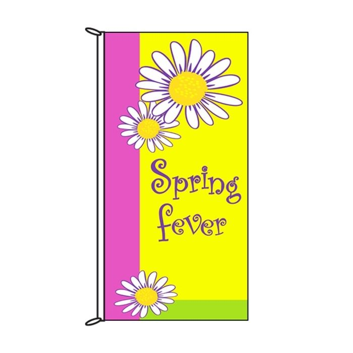 Spring Flag Spring Fever Yellow 900mm x 1800mm (Knitted)