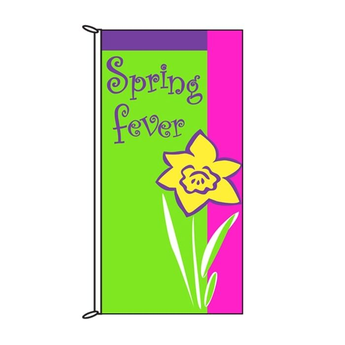 Spring Flag Spring Fever Green 900mm x 1800mm (Knitted)