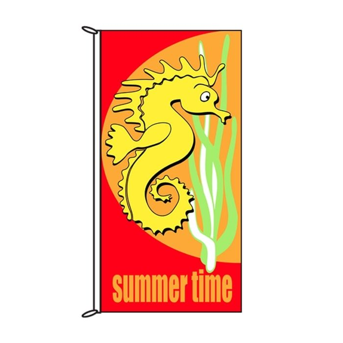 Summer Time Seahorse Flag 900mm x 1800mm (Knitted)