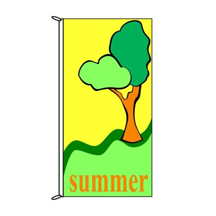 Summer Time Tree Flag 900mm x 1800mm (Knitted)
