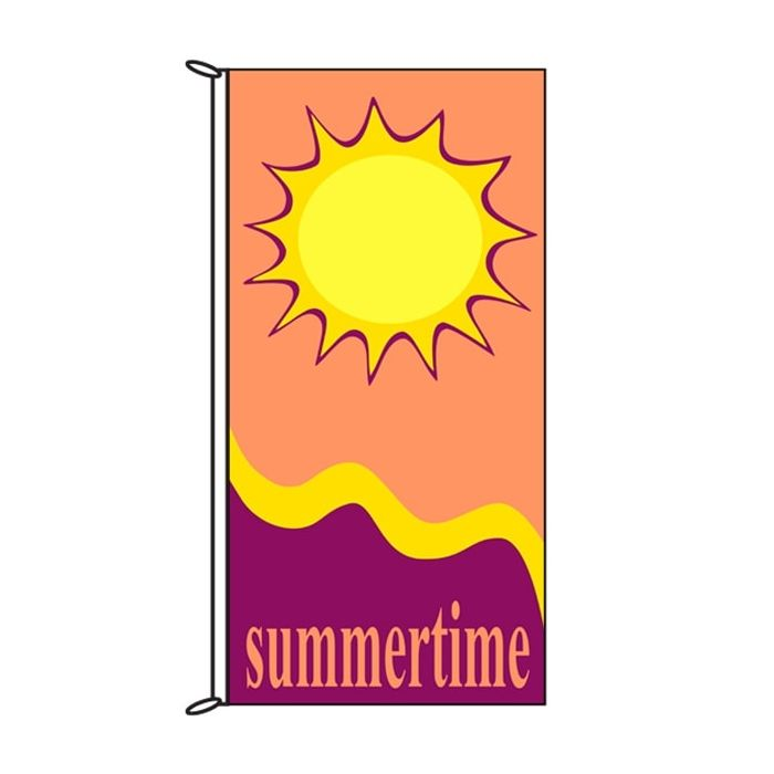 Summer Time Sun Flag 900mm x 1800mm (Knitted)