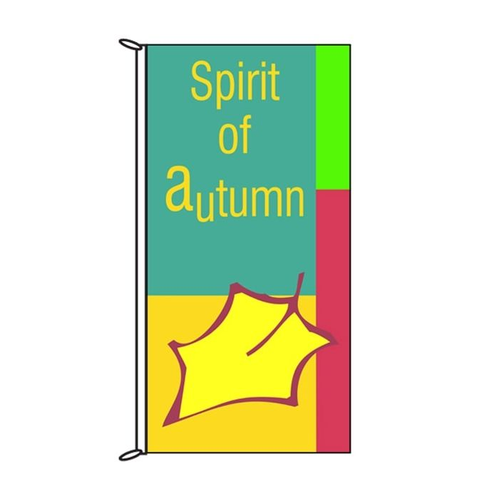 Autumn Flag - Spirit of Autumn Green 900mm x 1800mm (Knittted)