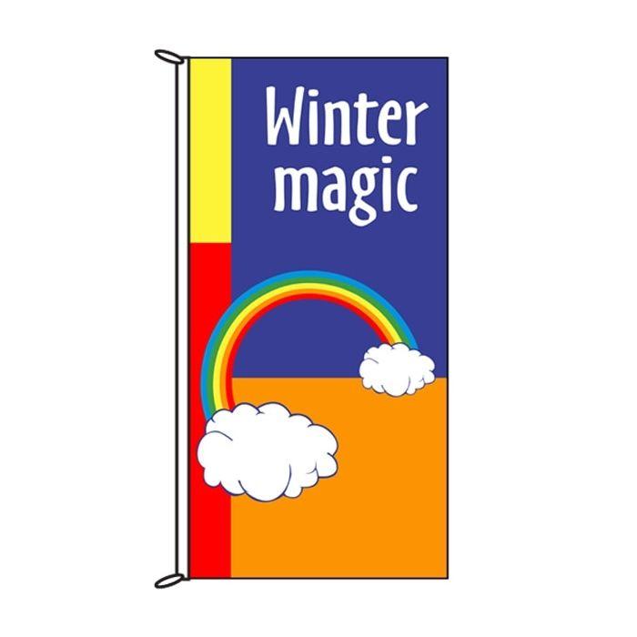 Winter Magic Rainbow Flag 900mm x 1800mm (Knitted)