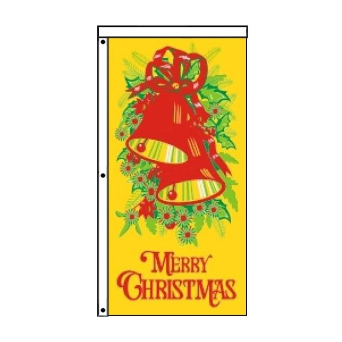 Christmas Flag Yellow 900mm x 1800mm (Knitted)