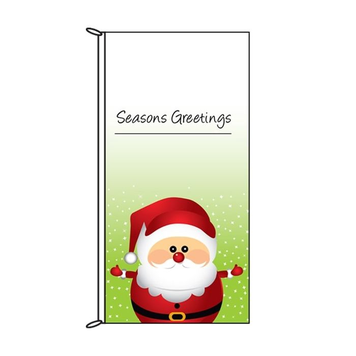 Seasons Greetings Santa Flag (67)