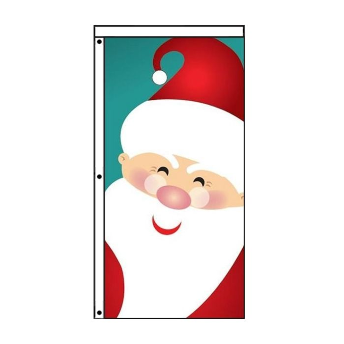 Santa Christmas flag