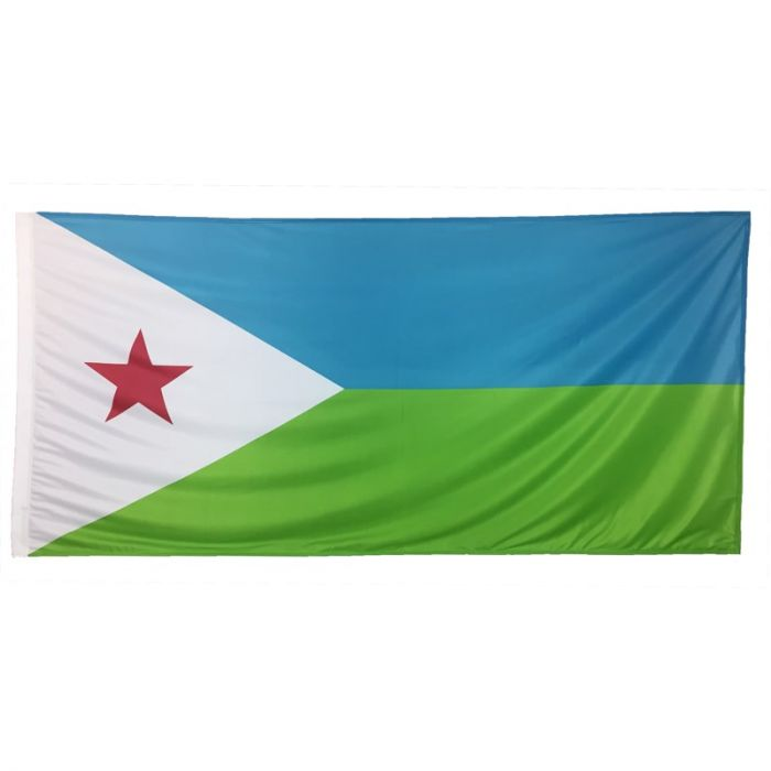 Djibouti Flag 1800mm x 900mm (Knitted)