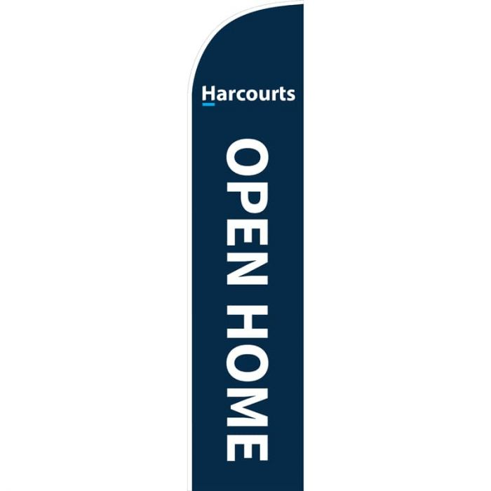 Harcourts Open Home Feather Flag 650mm x 3000mm