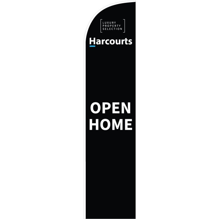 Harcourts Luxury Open Home Black Feather