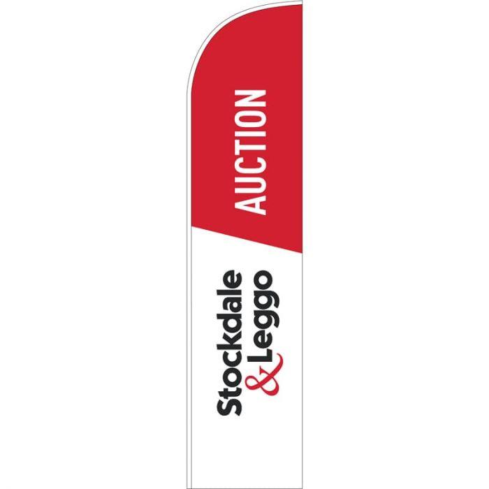 Stockdale & Leggo Large Auction Feather Flag 2019