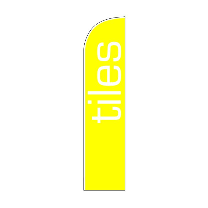 Tiles Yellow Feather Flag