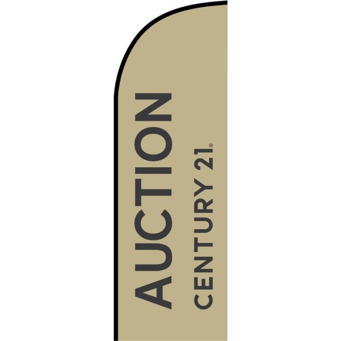 Century 21 Real Estate - Auction Feather Flag 650mm x 2000mm