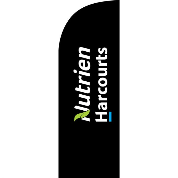 Nutrien Harcourts (2020) Black Small Feather Flag