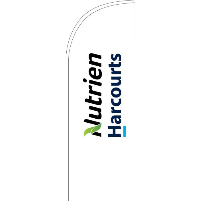 Nutrien Harcourts (2020) White Small Feather Flag